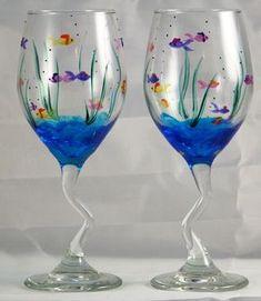 Aquarium wine glasses