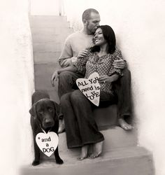 My family holiday card (with Charlie the Moose!) #dog Christmas Card Photo, Charlie