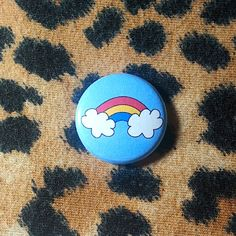 Pansexual Flag Rainbow Pinback Button or Magnet by jaxxisbuttons