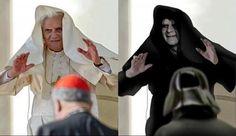 Benoit XVI est l'Empereur Palpatine !