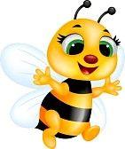 Bee tecknad