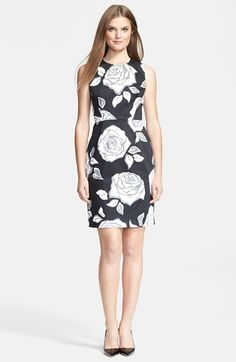 kate spade new york 'aires rose abbey' print stretch cotton sheath dress available at #Nordstrom