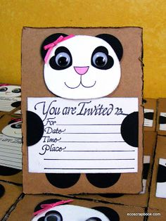 Searching for panda party supplies? Check out this tutorial on how to make your own panda birthday party invitations.