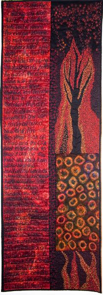 Extreme Conditions by Dijanne Ceval. Visit her page for details and narrative about the heart breaking inspiration behind this quilt.