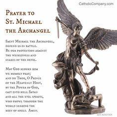 The well-beloved and powerful St. Michael prayer.