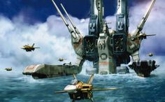 Cool fan art!  SDF-1 Robotech Macross