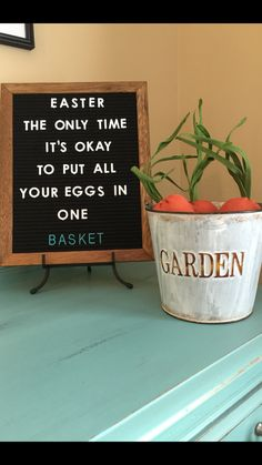 Easter Letter board