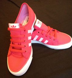 Pink Adidas sneakers, too cute not to buy!