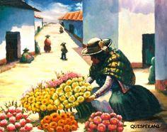 """LUIS ERNESTO QUISPE LEYVA  """"QUISPEKANI"""" Huancavelica - Perú      """"Una paleta con colores de la Pacha Mama"""" (1)         """"MISKICHA AÑACHA -(Qu..."""