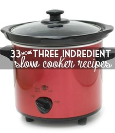 33 More 3 Ingredient Slow Cooker Recipes