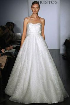 Dotted Tulle Christos Maribel - New Wedding Dress   SmartBrideBoutique.com