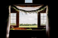 Gorgeous Barn Wedding Ceremony Backdrop | | ©Liller Photo | Milwaukee Wedding Photographer