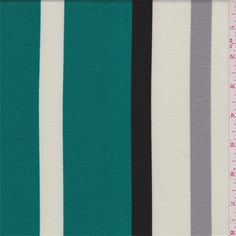 Teal Green Stripe Double Knit - 31835 - Fabric By The Yard At Discount Prices