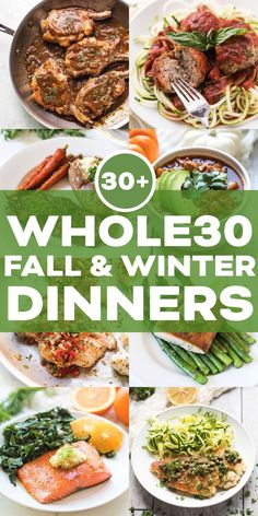 Mahlzeit Plan :: 30 + Herbst & Winter Dinner Rezepte – The Most Beautiful Recipes Whole 30 Meal Plan, Whole 30 Lunch, Whole 30 Diet, Paleo Whole 30, Whole Food Diet, Whole30 Dinner Recipes, Winter Dinner Recipes, Paleo Dinner, Clean Dinner Recipes For Two