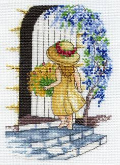 Wisteria - Faye Whittaker Arts, All Our Yesterdays Cross Stitch and Original Art Wesbsite