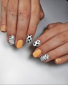 Gold Gel Nails, Cute Gel Nails, Best Acrylic Nails, Shellac, Cow Nails, Nails Now, Trendy Nails, Stylish Nails, Beauty Hacks Nails