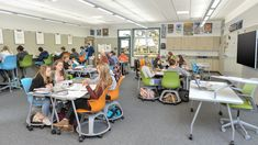 Classroom design can help engage students in active learning. Learn about Steelcase's research for how to create a collaborative learning environment for students. Learning Spaces, Learning Environments, Learning Centers, Learning Activities, Space Classroom, Classroom Design, Classroom Organization, Classroom Decor, Education Quotes For Teachers