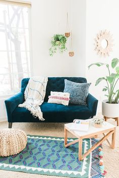 In love with this navy couch