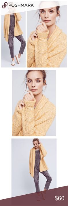 """Anthropologie Chauvet Cardigan NWT Chauvet Cardigan Angel of North Anthropologie NWT❤️ Cotton, acrylic, polyester, alpaca, nylon, Lycra knit Cloud stitch detail Open front Hand wash Imported Dimensions Regular: 26""""L Anthropologie Sweaters Cardigans"""