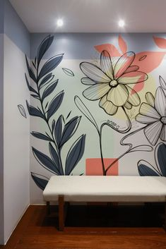 Creative Wall Painting, Wall Painting Decor, Mural Wall Art, Simple Wall Paintings, Bedroom Wall Designs, Wall Art Designs, Room Decor Bedroom, Home Room Design, Home Interior Design