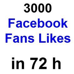 3000 Facebook Likes für Ihre Fanpage in 72h. Nur 19,90€