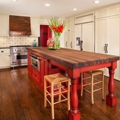 Spaces Red Kitchen Island Design, Pictures, Remodel, Decor and Ideas - page 2