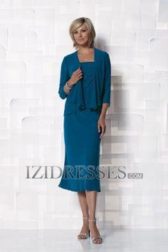 Sheath/Column Straps Mother of the Bride Dress - IZIDRESSES.COM at IZIDRESSES.com