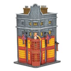 One Size Resin Harry Potter Village The Big Room and the Tower of Hogwarts Harry Potter European Adapter Multi-Colour