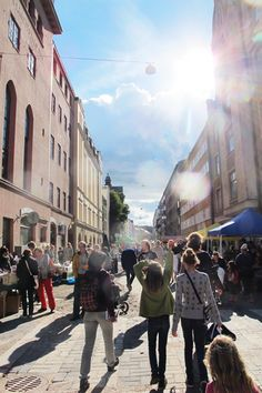 Street festival in Punavuori Helsinki
