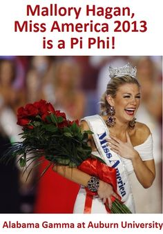 Miss America 2013 is a Pi Phi alum!!!!