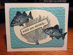 Stampin Up By the Tide and Just Sayin'