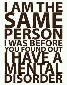 Say no to mental disorder stigmatization