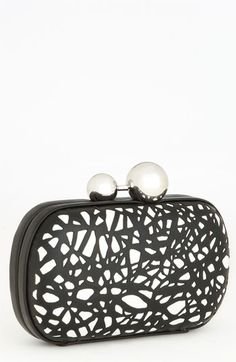 Diane von Furstenberg 'Sphere' Laser Cut Leather Clutch available at #Nordstrom