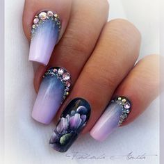 Gorgeous Nail Designs For Special Events Classy Nails, Fancy Nails, Stylish Nails, Trendy Nails, Cute Nails, Gem Nails, New Year's Nails, Hair And Nails, Nails 2016