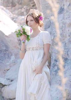 Vintage Western Wedding Dresses - Wedding and Bridal Inspiration Western Wedding Dresses, Wedding Dress Styles, Girls Dresses, Flower Girl Dresses, Elegant, Westerns, Fashion Dresses, Bridal, Flowers