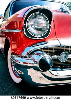 Stock Photograph - old classic chevy   car.