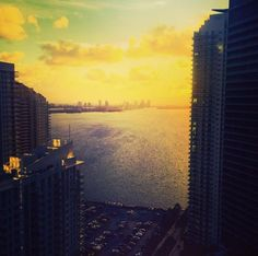 Waking up early isn't so bad when its paired with a view like this. Good morning from Conrad Miami. Photo by @pup_sport on Insta.