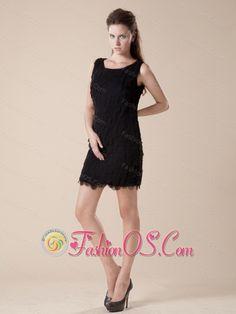 665db454 2013 Scoop Layers Mini-length Little Black Dress http://www.fashionos