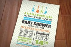 LITTLE ROCK STAR Baby Shower Printable by PrintasticDesign on Etsy, $17.00