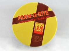 Vintage Perm-O-Rite Typewriter Ribbon tin and by VogelHausVintage