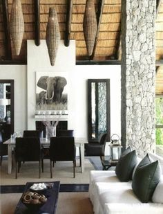 100 interior design ideas for modern living room furniture - Home Decoration African Living Rooms, African Room, African House, African Art, African Interior Design, African Design, African Home Decor, South African Decor, Style Deco