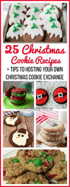 If you are looking for Christmas Cookie Recipes, these 25 ideas should hit the spot! Plus, find out how to host your own holiday cookie exchange!