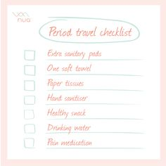 Travel checklist when you're on your periods Soft Towels, Travel Checklist, Drinking Water, Tissue Paper, Hand Sanitizer, Medical, Photo And Video, Instagram, Medicine