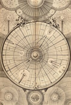 Thomas Wright of Durham. Celestial Map of the Universe. 1742. / Sacred Geometry
