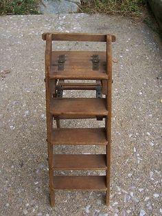 011d4b5c391 Antique Miniature Wooden Salesman Sample Step Ladder Sold Ebay  429.69  Miniature Furniture