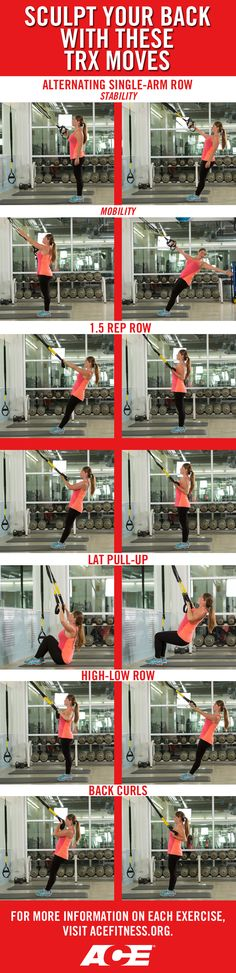 awesome Sculpt Your Back with These TRX Moves. Suspension Workout, Trx Suspension Trainer, Suspension Training, Sixpack Training, Trx Training, Gym Workouts, At Home Workouts, Trx Workout, Trx Back Exercises