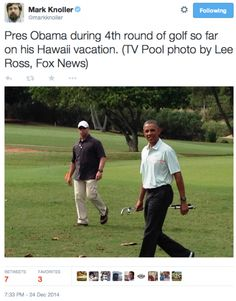 Semi-Retired President Spends Another Day On The Golf Course…