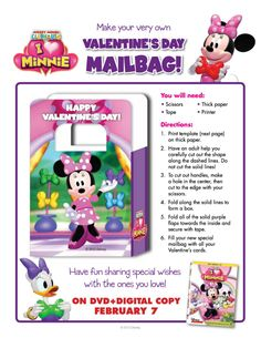 Minnie Mouse Valentine's Day Gift Bag Craft