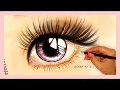 Life like Anime Eye Velocity Drawing DebbyArts Cool Eye Drawings, Realistic Eye Drawing, Easy Drawings, Pencil Drawings, Diy Xmas, How To Draw Anime Eyes, Doll Face Paint, Eye Expressions, Cartoon Eyes
