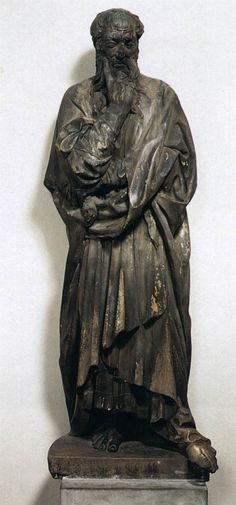 Donatello, Bearded Prophet c. 1418 Marble, height 194 cm Museo dell'Opera del Duomo, Florence by iris-flower